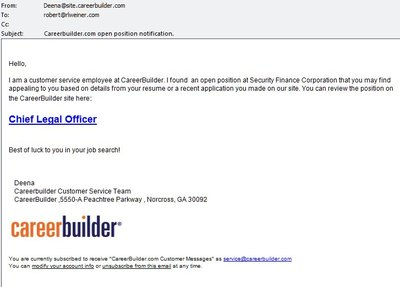CareerBuilder spam